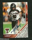 MICHAEL CRABTREE 2009 UPPER DECK DRAFT EDITION SILVER VERSION AUTOGRAPH RC 49ERS