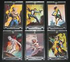 1996 Marvel Masterpieces DOUBLE IMPACT Set of 6 Cards NM M RARE!! Vallejo, Bell