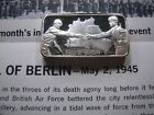 1.5 OZ FALL OF BERLIN WWII EVENTS 1977 VINTAGE SILVER ART BAR LINCOLN MINT