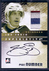 JOE SAKIC 08 09 ITG SUPERLATIVE 4C PLUS NUMBER PATCH AUTO 9 * HARD SIGNED