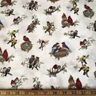 Wonderful Birds Of Springs On Cream Elizabeth Studio Cotton Fabric