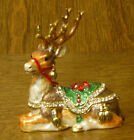 Kubla Crafts Jeweled Trinket Box #KC4126 RECLINING REINDEER, From Retail Shop