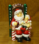 Kubla Crafts Jeweled Trinket Box #KC3615 SANTA with CHILD, From Retail Shop