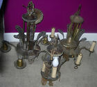 ART DECO CHANDELIERS  LOT OF 3  SAME DECO PATTERN  DIFFERENT STYLES  C. 1920'S