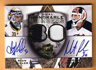 08 09 THE CUP DUAL HONORABLE NUMBERS RYAN MILLER MARTIN BRODEUR PATCH AUTO 30