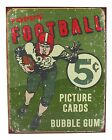 Vintage Replica Tin Metal Sign Topps picture cards box gum 56 football ball 1406