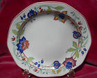 CHURCHILL TAMARIND DINNER PLATE S CHARTWELL BLUE RED FLOWERS