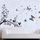 Floral Butterfly Flower Wall Stickers Paper Art Vinyl Mural Decal Room Decor DIY