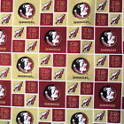 Florida State Seminoles Squares Sykell Cotton Fabric