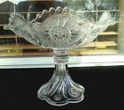 Antique American Fine Pressed Glass Tall Compote 7 Tall 7 Across
