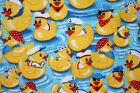 SNUGGLE FLANNEL YELLOW DUCKS on BLUE WATER 100 Cotton Fabric NEW BTY