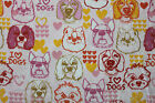 SNUGGLE FLANNEL I LOVE DOGS ON PALE PINK 100 Cotton Fabric NEW BTY