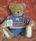 """Boyds Bear Archive #1364 """"Teddy"""" Retired Plush Jointed Stars & Stripes Sweater"""