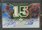 2006-07 Vince Carter Carmelo Anthony UD Exquisite Number Pieces DUAL AUTO 3 15