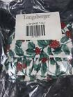 Longaberger Liner Cracker Christmas Traditional Holly #244067 NEW NIP Retired