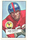 1952 Bowman Large Football Card #131 John Rapacz-New York Giants