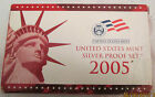 2005 Silver Proof Set 11 coin With 5 Silver State Quarters COA Silver half dime