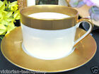 FITZ & FLOYD CARRE' D OR PATTERN TEA CUP AND SAUCER DUO