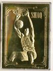 1994 CLASSIC GAMES 23kt GOLD TRADING CARD SHAQUILLE O'NEAL 1 OF 3 - 5177 10,000