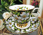 ROYAL ALBERT PROVINCIAL FLOWERS SERIES TEA CUP AND SAUCER DOGWOOD PATTERN
