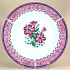 4 Dinner Plate Set Royal Norfolk Greenbrier Stoneware Blue Red Garden Floral New