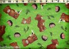 Quilting Treasures Beary Fun Day Teddy Bears 100 Cotton Quilt Fabric BTY