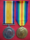 WW1 Medal Pair G-87315 Private Gordon Bettles Middlesex Regiment Diehards WW1