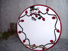 FITZ AND FLOYD SNOWMAN & CHRISTMAS LIGHTS PLATE CHEERS 6.75