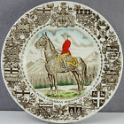 ESTATE - OLD WOOD AND SONS ENGLAND SOUVENIR PLATE CANADIAN MOUNTED POLICE CANADA