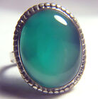 GORGEOUS 20.74 CT AVENTURINE STERLING SILVER RING BY TARA MESA SIZE 13