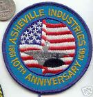 US Navy ASHVILLE INDUSTRIES Ship Patch aircraft carrier submarine naval aviation