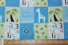 SNUGGLE FLANNEL LITTLE BUDDY BABY BOY BLUE GREEN 100 Cotton Fabric NEW BTY