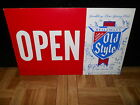 (VINTAGE) 1976 OLD STYLE BEER OPEN & CLOSE SIGN FOR BAR WINDOW OR LIQUOR STORE