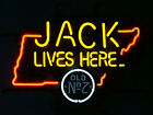 NEW JACK DANIELS JACK LIVES TENNESSEE WHISKEY REAL NEON BEER BAR LIGHT SIGN