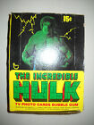 1979 INCREDIBLE HULK FULL WAX BOX (36 CARD PACKS) TOPPS