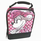 Disney Minnie Mouse Polka Dots Soft Lunch Box Insulated Bag Hot Pink Lunchbox