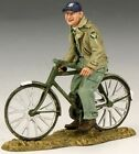 KING & COUNTRY U.S. AIR FORCE AF016 GROUND CREW ON BICYCLE MIB