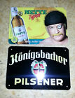 2 x METAL SIGN - BEER - Germany - Konigsbacher + Nette Pils - (plate, tin) RARE