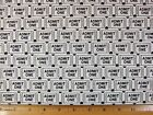 Ticket Print end of bolt cotton fabric By The Half Yard Read Full Listing Info