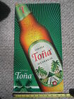 Tona Cerveza Tin Beer Sign Embossed / Beer from Nicaragua / NEW Mint / Rare!