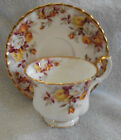 Royal Albert Leonora Brown, Gold And Pink Bone China Cup and Saucer