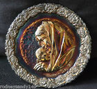 1971 Fenton Carnival Glass Plate Mother's Day Madonna with The Sleeping Child