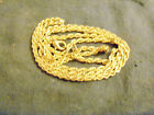 bling 14k gold plated 2mm 30inch rope chain hip hop necklace thin small skinny