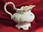 Rare Handpainted Austrian China Creamer with Pink Roses and Blue