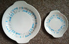 BLUE HEAVEN - 2 PIECE Platter Plate SET - Vintage - by Royal China - 1950's USA