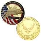 U.S. air force F-35 Lightning II 24k GP challenge coin #79