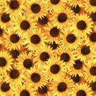 Bright Yellow Sunflower Collage Cotton Fabric Fat Quarter