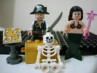 LEGO Minifigure Pirates of the Caribbean Skeleton lot Jack Sparrow Mermaid #PC2