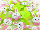 HOT 50PCS Rabbit  Rubber Charms For Rainbow Loom Bands for bracelet