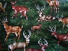 1 YD ~ Buck Doe Fawn DEER Animal Print ~ 100% Cotton FABRIC ~ Quilt Stash ~ BTY